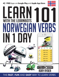 Omslag för 'Learn 101 Norwegian Verbs in 1 Day with the Learnbots - 1908869272'