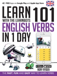 Omslag för 'Learn 101 English Verbs in 1 Day with the Learnbots - 1908869449'