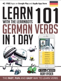 Omslag för 'Learn 101 German Verbs in 1 Day with the Learnbots - 1908869463'