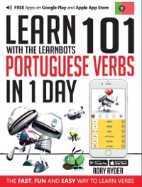 Omslag för 'Learn 101 Portuguese Verbs in 1 Day with the Learnbots - 1908869494'