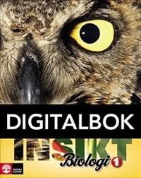 Insikt Biologi 1 Lärobok Digital - Brynhildsen, LenaBrändén, HenrikEhinger, Magnus