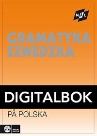 Mål Svensk grammatik på polska Digital, utan ljud