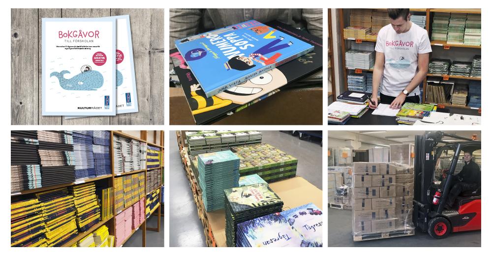 Bilder från vårt arbete med Bokgåvor